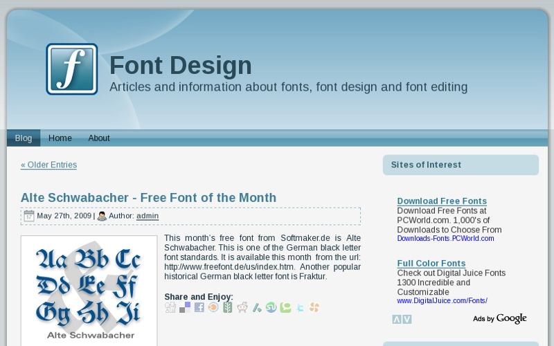 Font design and font editing